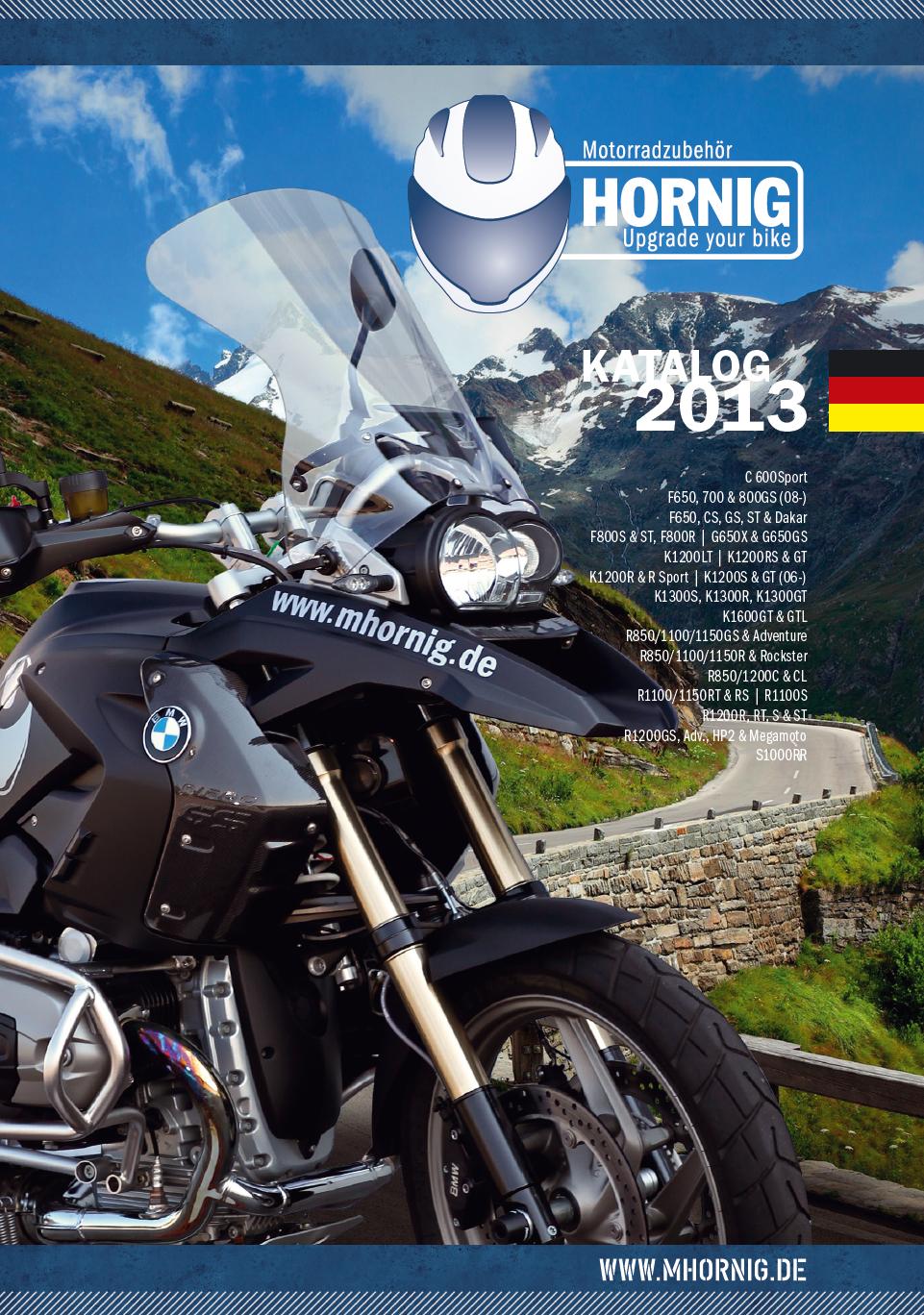 Catalogo de accesorios 2013 para motocicletas bmw de for Catalogo de accesorios